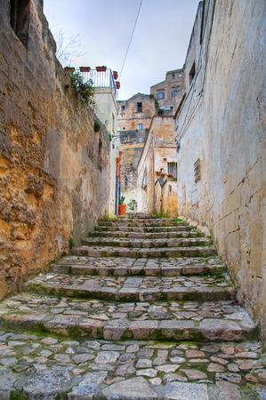 rooftile: Alleyway. Sassi of Matera. Basilicata. Italy.