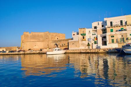 old port: Old port of Monopoli. Puglia. Italy. Stock Photo