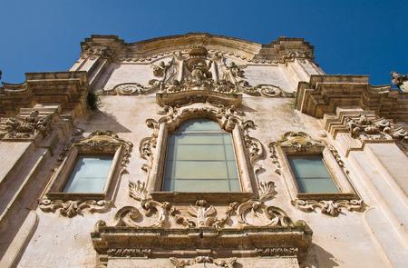 architectural architectonic: Church of St. Francesco. Matera. Basilicata. Italy. Stock Photo