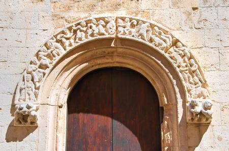 architectural architectonic: Cathedral church of Barletta. Puglia. Italy.