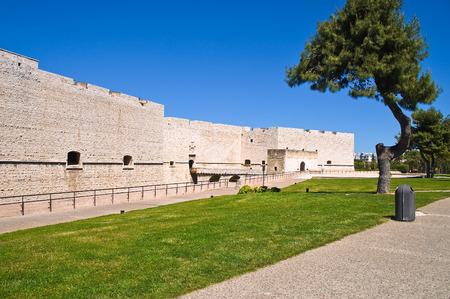 crenellated: Castle of Barletta. Puglia. Italy. Editorial