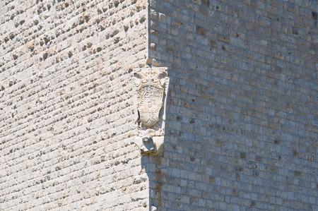 crenellated: Castle of Barletta. Puglia. Italy. Stock Photo