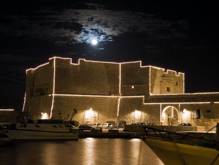 resides: Castle of Charles V. Monopoli. Puglia. Italy.