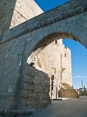 resides: Carlo V Castle. Monopoli. Puglia. Italy.