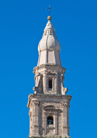 monopolies: Belltower of Monopoli Cathedral. Apulia. Italy.