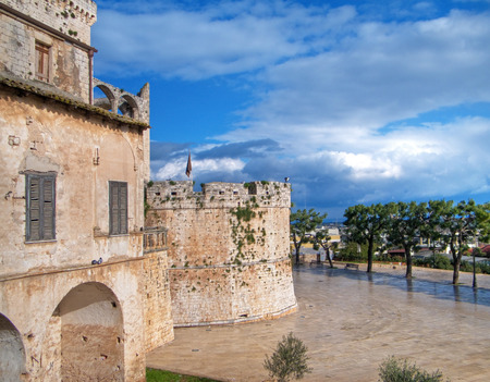 conversano: This is the Aragonese Castle of Conversano in Apulia.