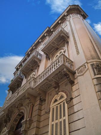 grates: This is an historic  art nouveau building in Bari. Apulia.