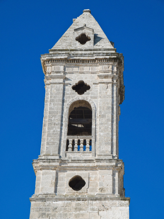 belltower: The ancient Romanesque belltower in oldtown of Bari. Apulia.