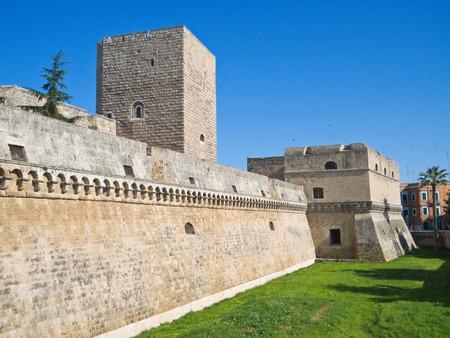 norman castle: The Aragonese Norman-Swabian Castle of Bari. Apulia. Editorial