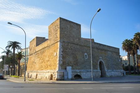 donjon: Blockhouse of SantAntonio. Bari. Puglia. Italy.