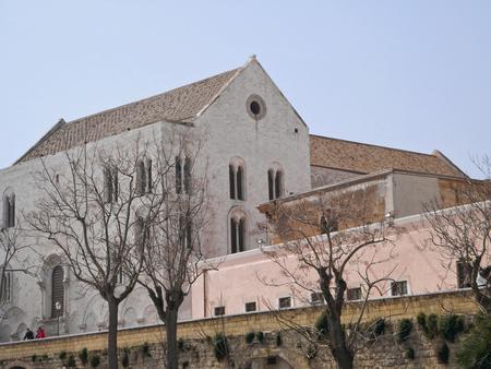 nicholas: Ancient walls with St. Nicholas Basilica. bari. Apulia.