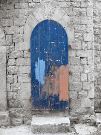 crumbling: Crumbling Blue Frontdoor.