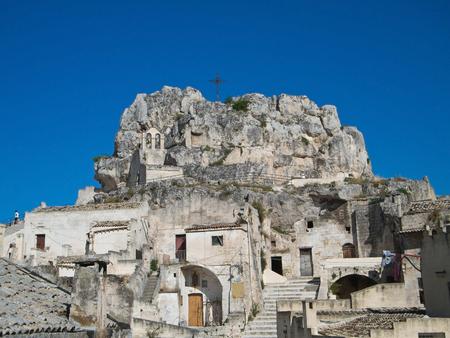 sassi: Madonna de Idris Church. Sassi of Matera. Basilicata.