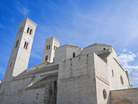 patron of europe: The Old Dome Cathedral. Molfetta. Apulia.