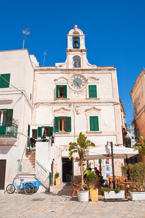 clocktower: Clocktower. Polignano a mare. Puglia. Italy.