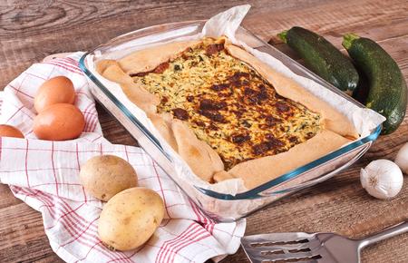savoury: Zucchini savoury pie.