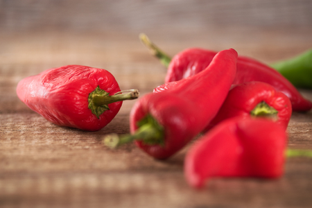 Hot chili peppers. Stock Photo