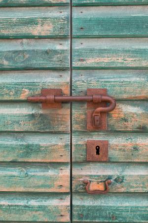 Old deadbolt lock.