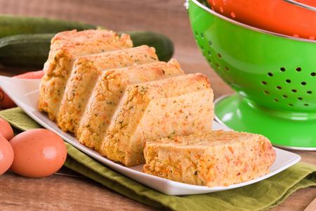 pastel de carne: pastel de carne vegetal. Foto de archivo