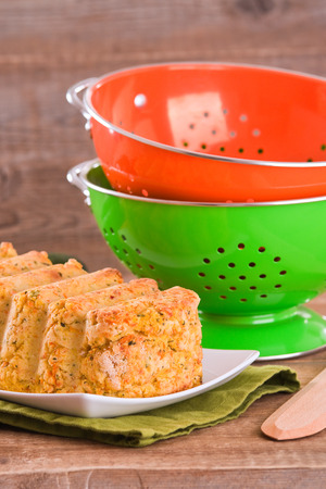 Vegetable meatloaf. Stock Photo