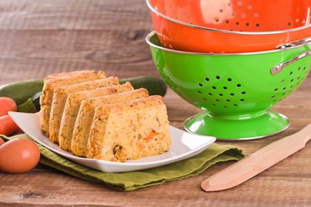 albondigas: pastel de carne vegetal. Foto de archivo