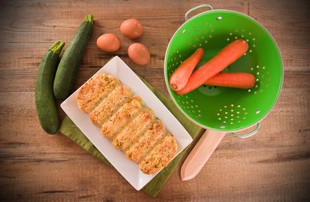meatloaf: Vegetable meatloaf. Stock Photo