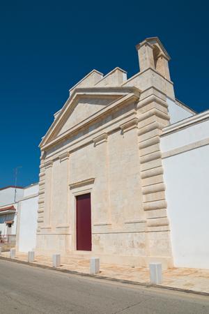 Church of St. Francesco. Sammichele di Bari. Puglia. Italy. Stock Photo