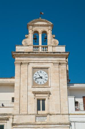 clocktower: Clocktower. Sammichele di Bari. Puglia. Italy. Stock Photo