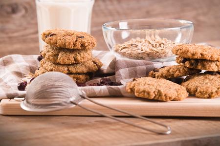 Oatmeal cookies. Stock Photo