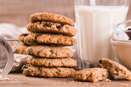 Oatmeal cookies. Stock Photo