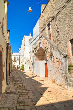 Alleyway. Sammichele di Bari. Puglia. Italy.