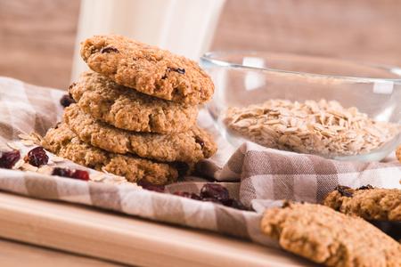 oatmeal: Oatmeal cookies. Stock Photo