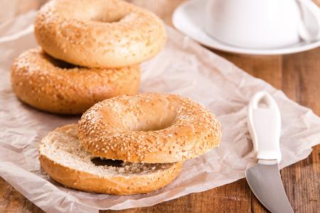 sesame: Sesame bagels.