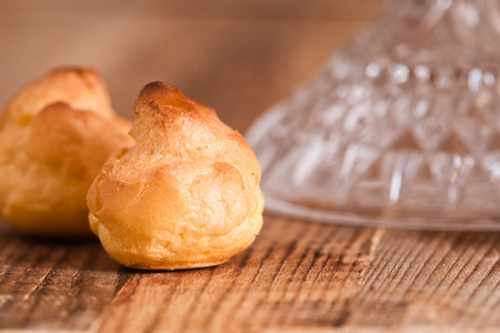 Sweet cream puffs.  Stock Photo