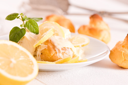 Lemon Profiteroles.