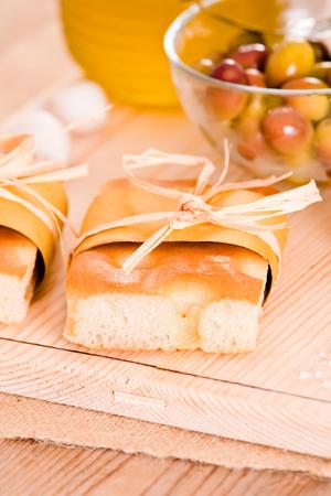 focaccia: Focaccia bread.