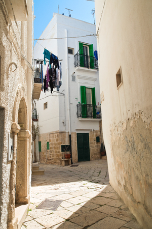 Alleyway. Polignano a mare. Puglia. Italy. Stock Photo