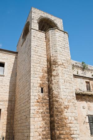crenellated: Castle of Conversano. Puglia. Italy.
