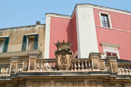 Historical palace. Conversano. Puglia. Italy.  Stock Photo