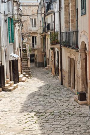 Alleyway. Conversano. Puglia. Italy.  Stock Photo