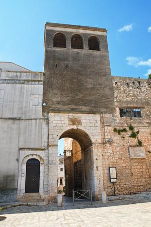Porta Tarantina. Conversano. Puglia. Italy.  Stock Photo