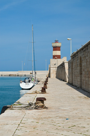 Panoramic view of Monopoli. Puglia. Italy.  Stock Photo