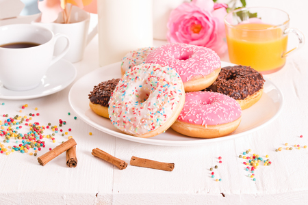 American donuts. Stock Photo