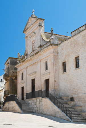 Mother church of Cisternino. Puglia. Italy.