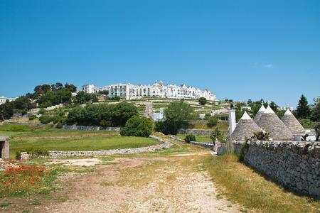 Panoramic view of Locorotondo. Puglia. Italy.