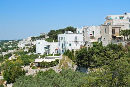 Panoramic view of Cisternino. Puglia. Italy.