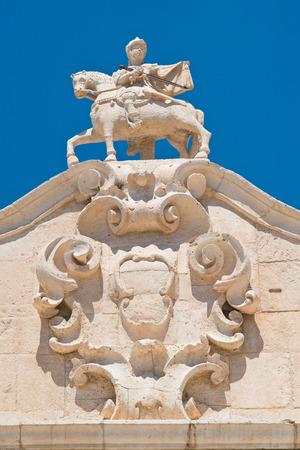 The arch of Santo Stefano. Martina Franca. Puglia. Italy.  Stock Photo