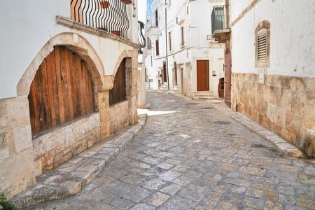 passageway: Alleyway. Putignano. Puglia. Italy.  Stock Photo