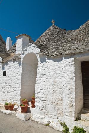 Trulli houses. Alberobello. Puglia. Italy. Banco de Imagens