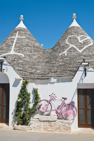 Trulli houses. Alberobello. Puglia. Italy. Stock Photo